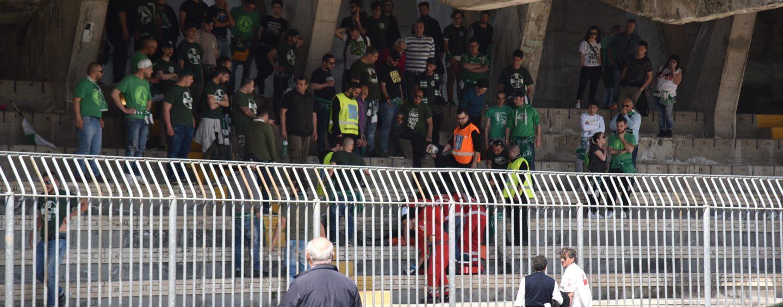 Ascoli-Avellino, paura sugli spalti per un tifoso biancoverde