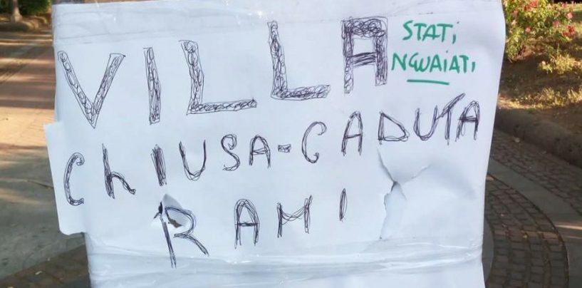 """""""Caduta rami"""", chiusa la Villa Comunale ad Avellino"""