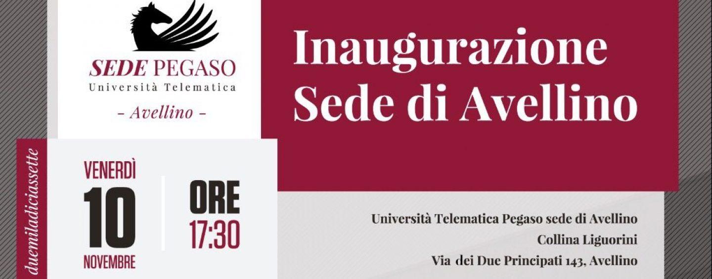 Pegaso inaugura la nuova sede ad Avellino, presenti De Vincenti e De Luca