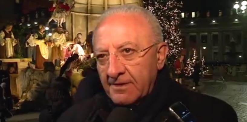 "Presepe in Vaticano, De Luca esalta Bergoglio: ""Incontro con un grande Pontefice"""