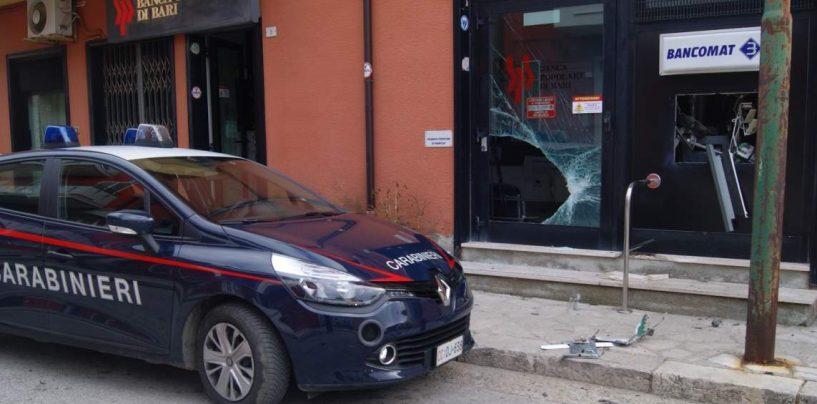 Bisaccia, furto con esplosivo al bancomat: ladri in fuga con il bottino