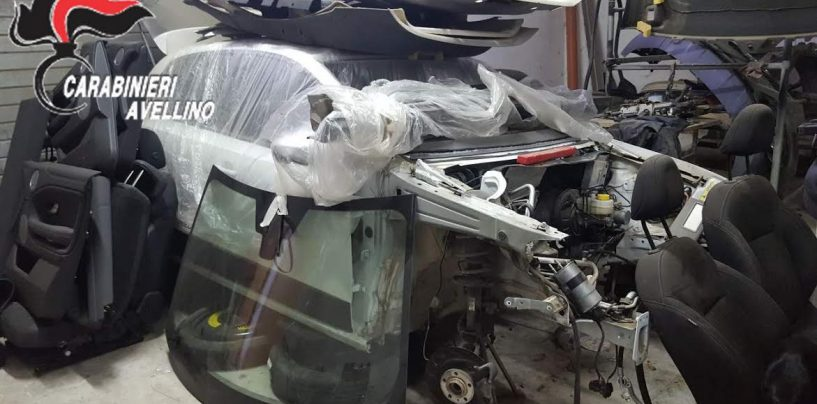 Centrale di riciclaggio auto rubate in provincia di Avellino: arrestato 40enne