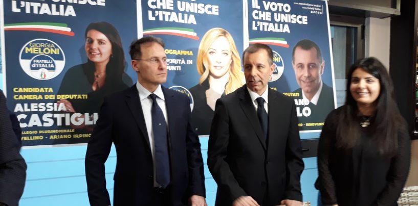 """FdI presenta i candidati, Cirielli: """"Chi contesta Carullo ha affossato la destra irpina"""""""