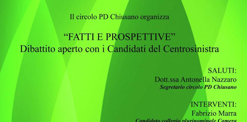 """""""Fatti e prospettiva"""", a Chiusano il dibattito con Paris e Famiglietti"""