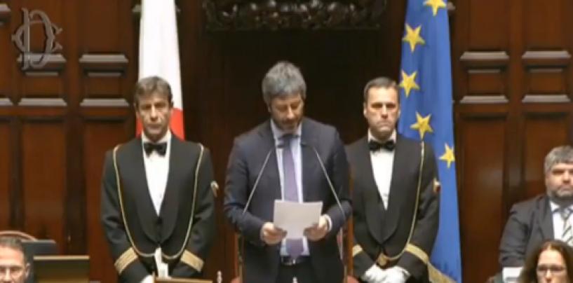 A Montecitorio è il giorno dei tagli ai vitalizi: il Presidente Fico presenta la delibera