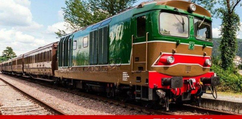 Il treno turistico fa tappa a Tufo, per i passeggeri degustazione con Greco DOCG