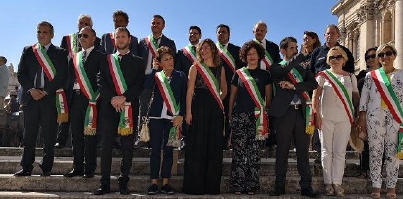 Le città del vino all'udienza generale di Papa Francesco