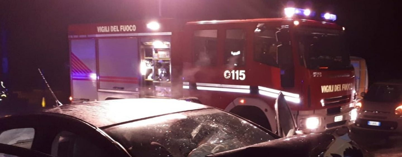 Benevento, scontro violento in tangenziale: due le persone ferite