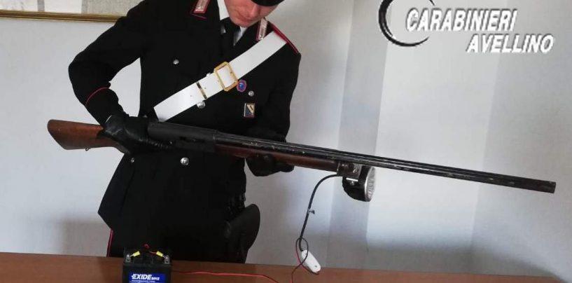 Fermato con fucile e munizioni: arrestato 70enne