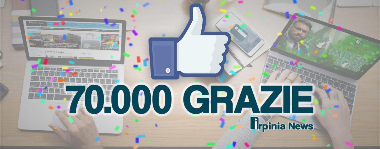 Irpinianews abbatte il muro dei 70.000 like su Facebook: un grazie a tutti!