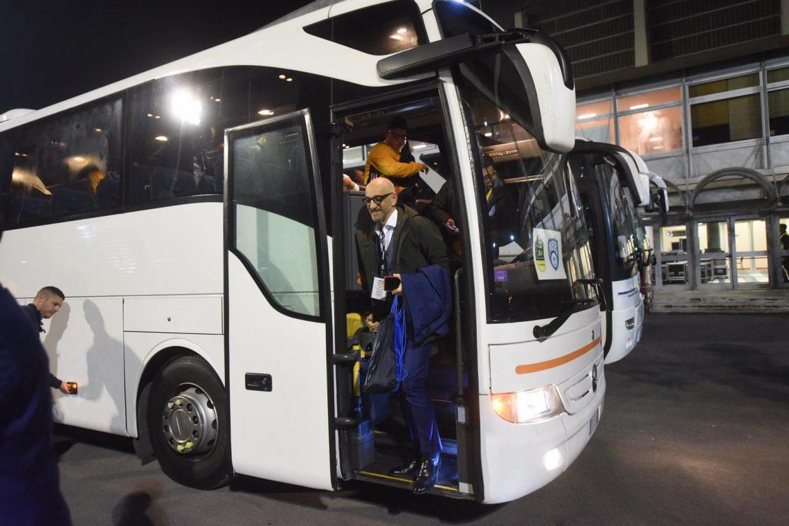 "FOTO/ Verso Sidigas-Brindisi, l'arrivo dei biancoverdi al ""Mandela Forum"" di Firenze"
