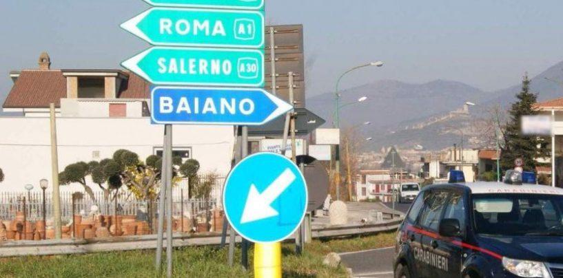 Giro di vite dei carabinieri di Baiano, fine settimana di denunce e fogli di via