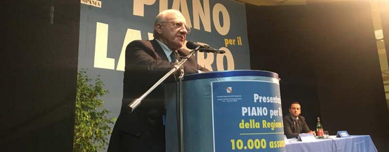 Piano Lavoro Campania, ci siamo: De Luca annuncia le date del bando