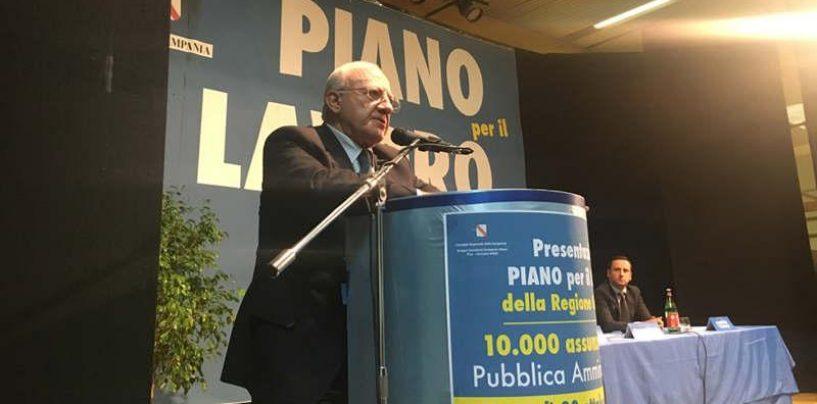 Esodo Quota 100 in Campania: De Luca punta ad andare oltre le 10.000 assunzioni
