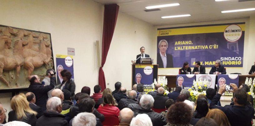 """La campagna elettorale è iniziata. Ad Ariano i parlamentari 5S con Iuorio: """"Unica alternativa reale"""""""