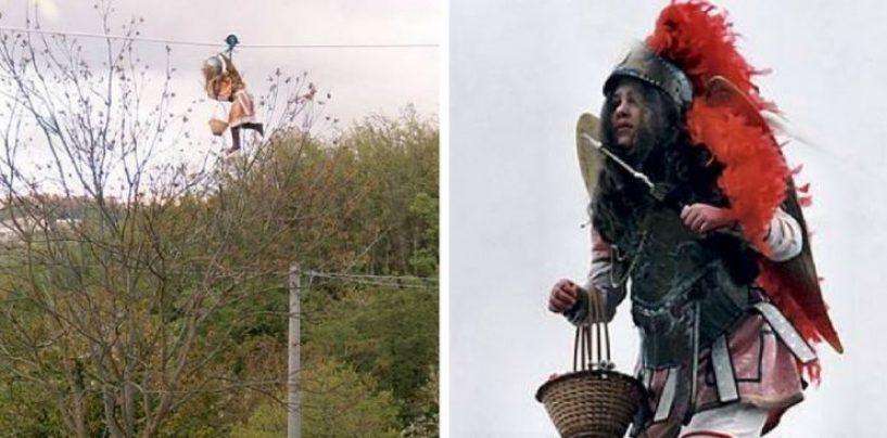 Pasquetta a San Mango, si rinnova l'antica tradizione del Volo Dell'Angelo