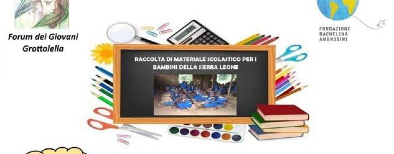Grottolella per la Sierra Leone, raccolta in piazza di libri e materiale scolastico