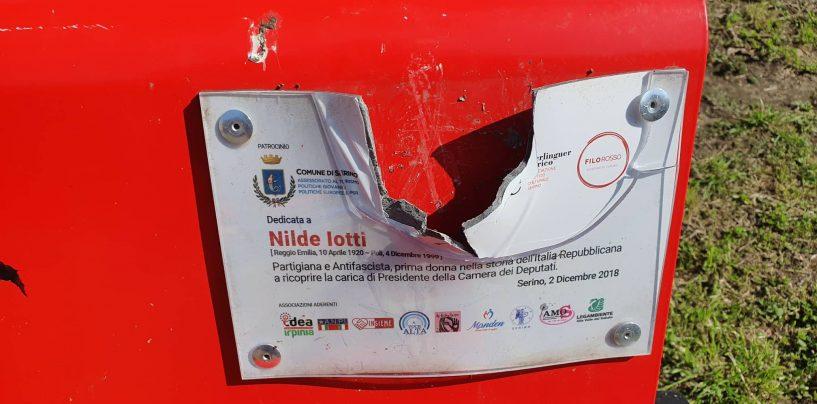 La Panchina Rossa di Serino ancora nel mirino dei vandali
