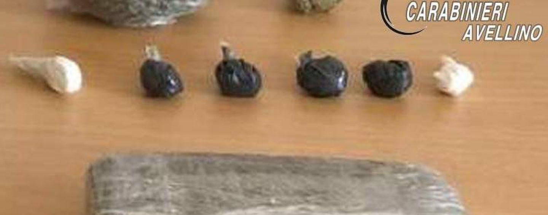 Coca, hashish e marijuana: in manette un 33enne di Calitri. Sequestrate 6 dosi pronte per lo spaccio