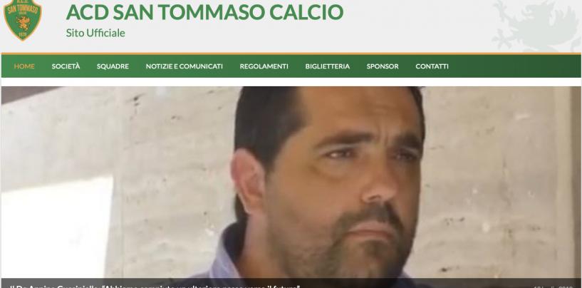 """Il San Tommaso Calcio è on-line, il Dg Annino Cucciniello: """"Abbiamo compiuto un ulteriore passo verso il futuro"""""""