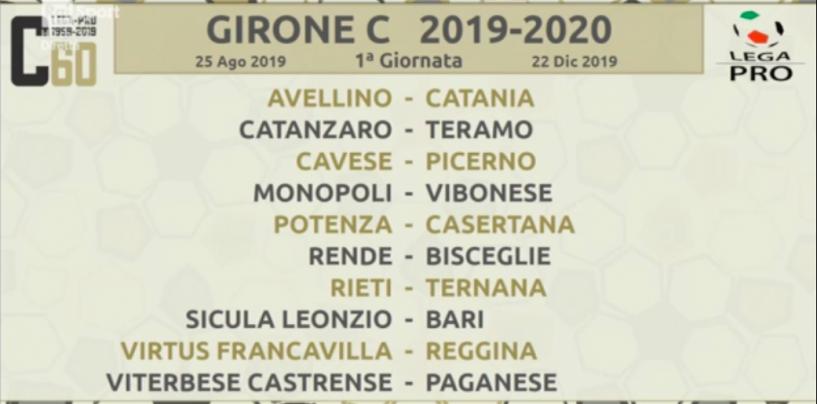 Avellino-Catania al debutto: sorteggiato il girone dei lupi in Serie C