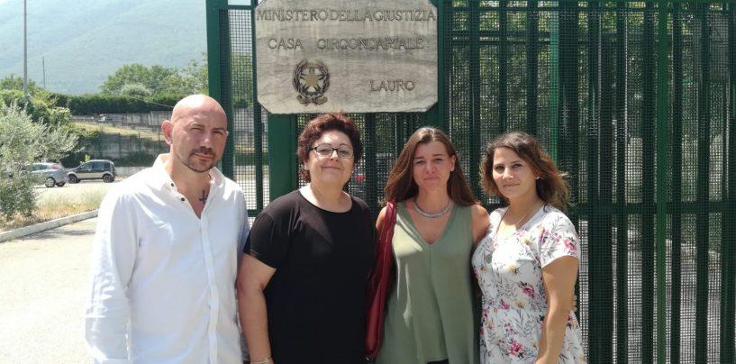 Lauro, Pallini e Sportiello in visita al carcere per detenute madri