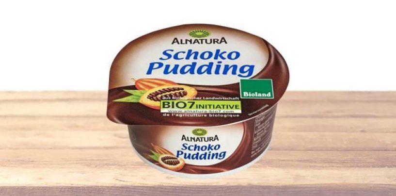 Ritirato lotto di budino al cioccolato di Alnatura: contiene schegge di vetro
