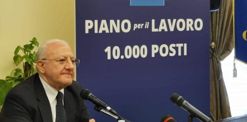 """Piano Lavoro Regione Campania: ecco le date delle prove preselettive. E De Luca annuncia: """"A settembre un terzo concorso"""""""