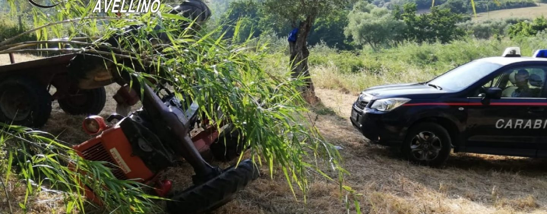 Al lavoro nei campi, a Flumeri 73enne muore schiacciato dal trattore