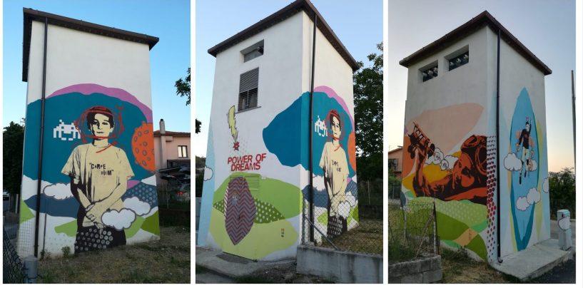 Arte come Energia, la street-art illumina le cabine elettriche di Vallesaccarda