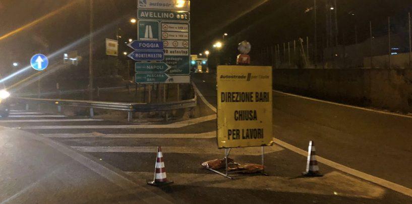 Lavori in corso lungo l'autostrada A16: chiuso il tratto Avellino est-Benevento
