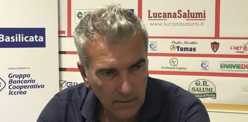 """Picerno-Avellino, Giacomarro: """"Gara in salita, che bravo Ignoffo"""""""