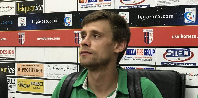 """Vibonese-Avellino, Celjak: """"Non era facile contro un avversario così"""""""