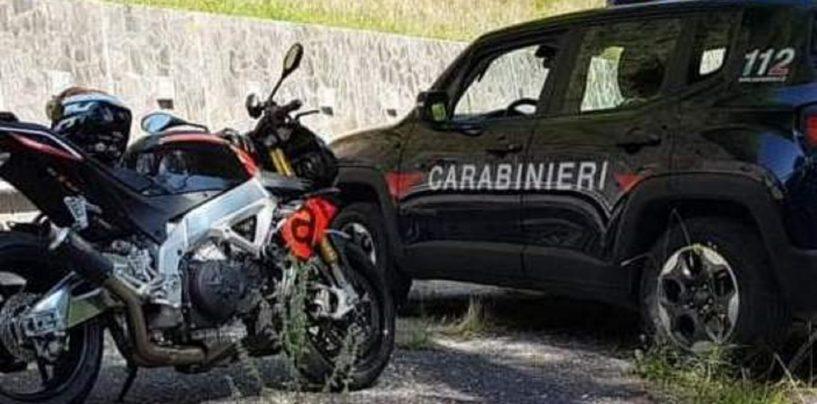 Raduno moto a Montevergine, i controlli del carabinieri