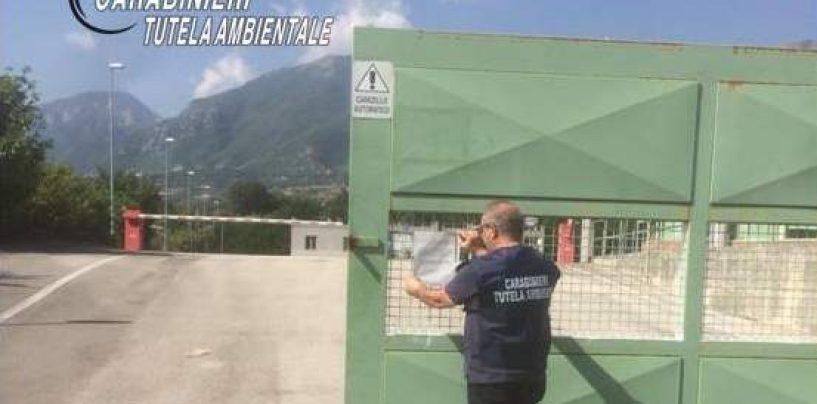 Calabritto, sigilli ad un impianto di trattamento di rifiuti speciali