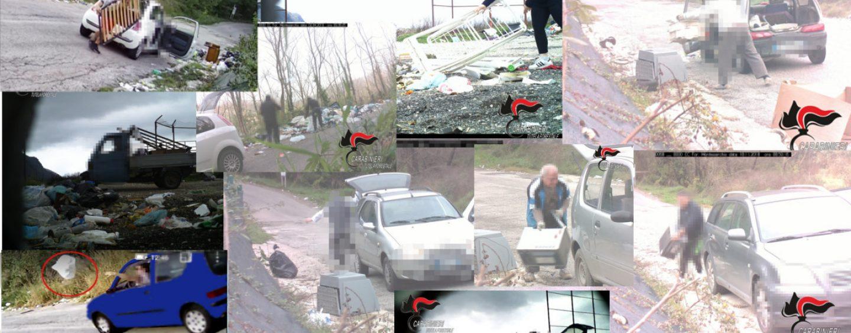 Abbandono di rifiuti domestici, carabinieri in azione contro i responsabili: pioggia di multe