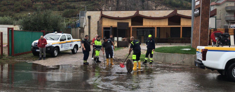 FOTO / Maltempo, il punto della situazione della Protezione Civile: allagamenti e smottamenti anche a Montoro e Solofra