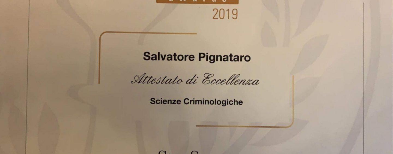 """""""Investigation Forensic Award"""": prestigioso riconoscimento per l'irpino Pignataro"""