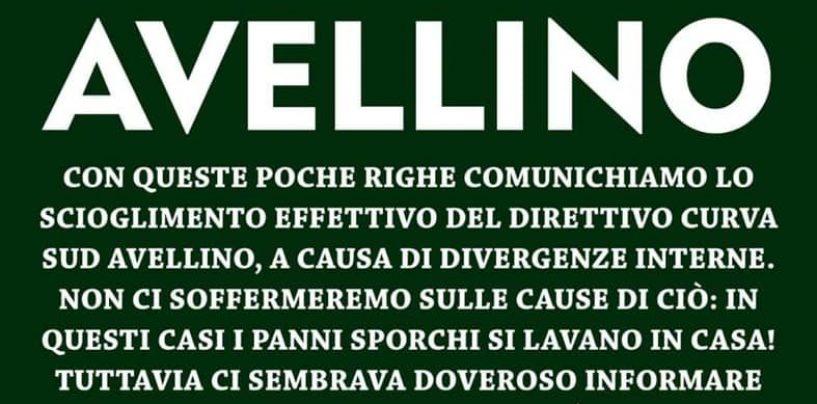 """Curva Sud Avellino, si scioglie il Direttivo: """"Divergenze interne"""""""