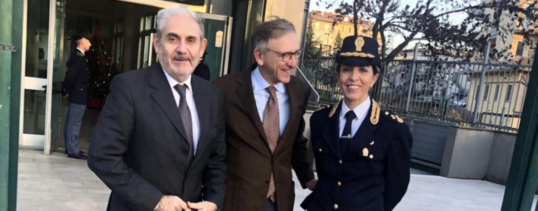 Il Procuratore Cantelmo in visita in Questura,  ad accoglierlo Terrazzi