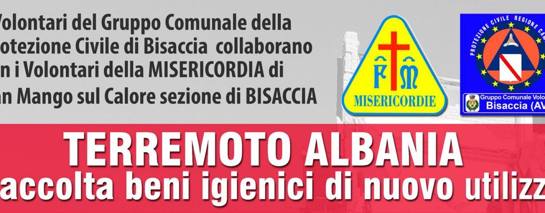 Terremoto Albania, la Protezione Civile Bisaccia organizza una raccolta di beni