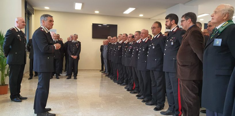 FOTO/ Il Generale di Corpo d'Armata Tomasone al Comando di Avellino per i saluti di commiato