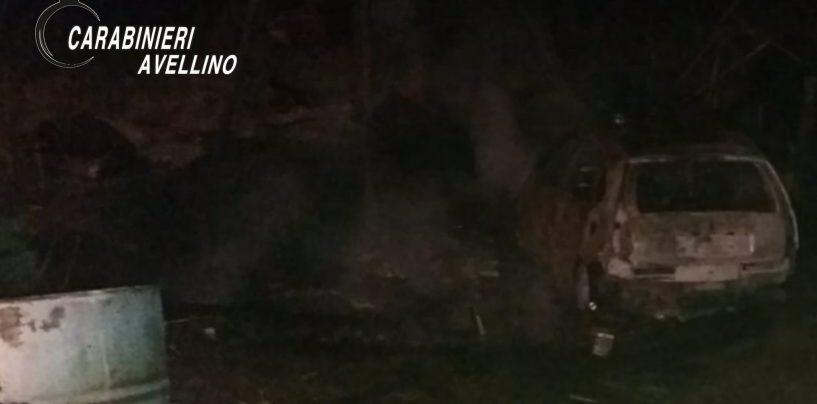 Incendio nella notte a Venticano: distrutta un'auto