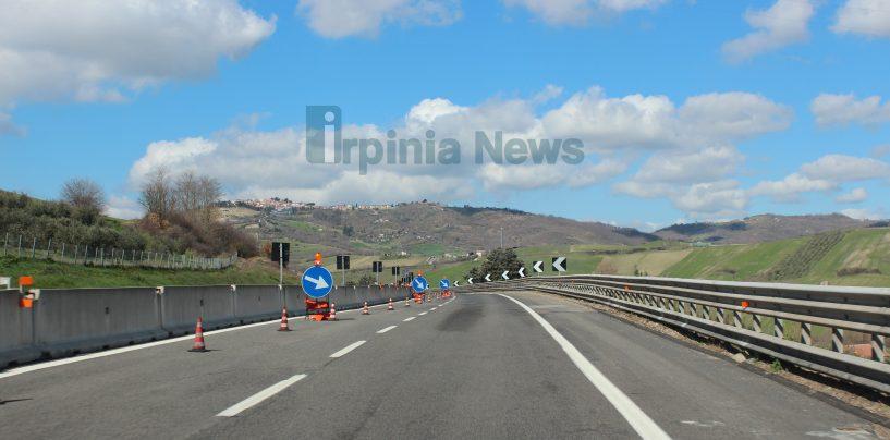 """A16, rimosso per lavori il senso unico alternato sui viadotti """"Serra dei Lupi"""" e """"Flumeri"""""""