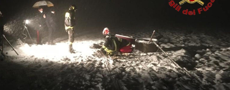 Anziano precipita in un pozzo: tragedia sotto la neve a Castelfranci