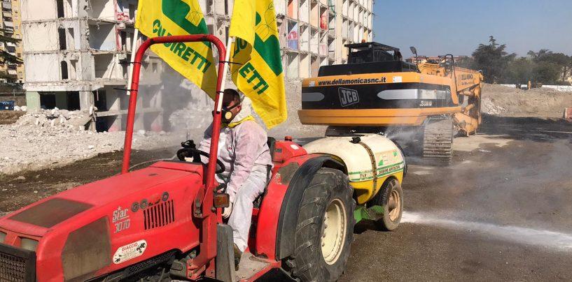 Sanificazione delle strade, anche in Irpinia arrivano i trattori della Coldiretti