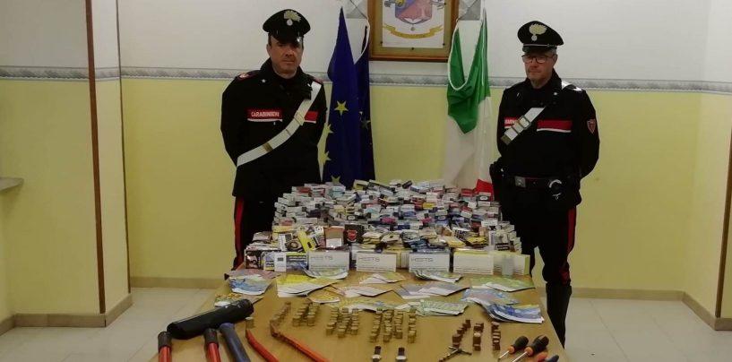 Svaligiano la tabaccheria e si danno alla fuga in Audi, i Carabinieri recuperano la refurtiva