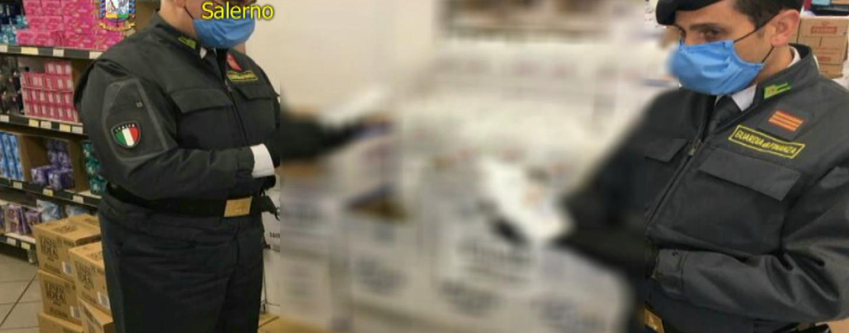 Igienizzante tarocco al supermercato: la scoperta ad Agropoli