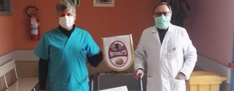 Montemiletto Calcio over 40, donazione di gel igienizzante al Moscati