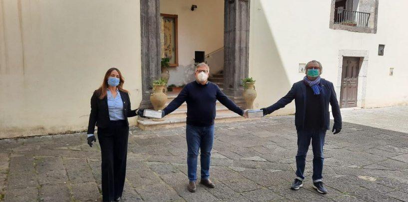 Coronavirus, la Lega Solofra dona 4mila mascherine al proprio sito e 1000 al Moscati